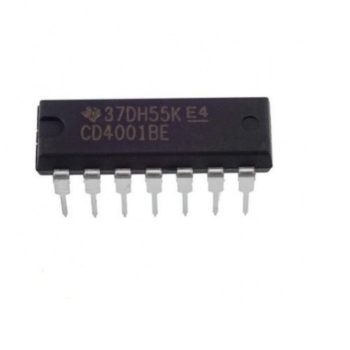Texas Instruments CD4001BE CD4001 CMOS Quad 2-Input NOR Gate