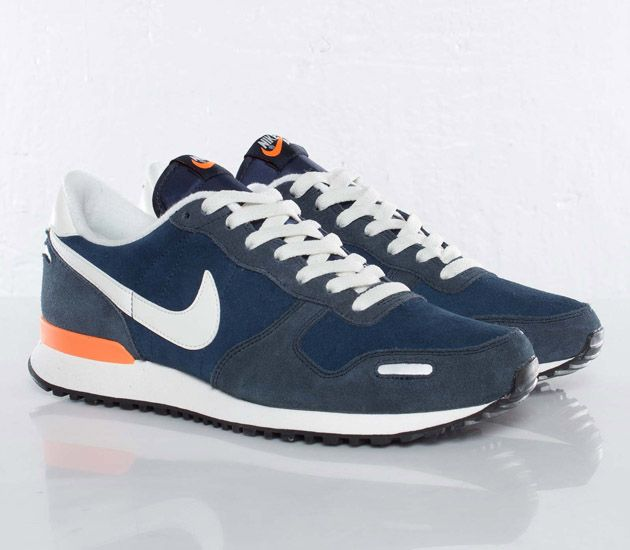 Nike Air Vortex Leather-Midnight Navy-Sail-Dark Obsidian-Total Orange   sneakers  kicks 362fa90f8