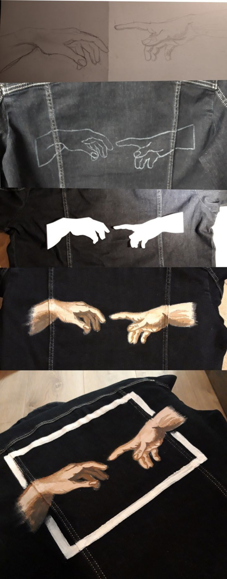 #wallpaper #lockscreen #art The Creation of Adam - Nell Oa. #jeanjacketoutfits