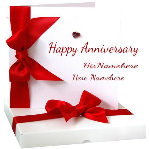 Marriage Anniversary Wishes Card With Couple Name Edit Happy Anniversary Cards Marriage Anniversary Cards Wedding Anniversary Cards