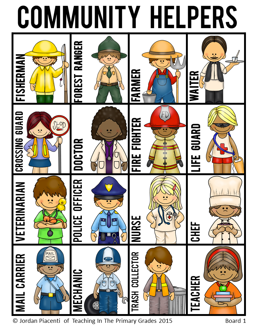 Community Helpers and Occupations Bingo Game | Community ...