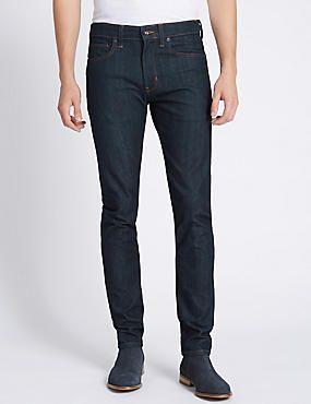 Skinny Fit Stretch Jeans #jean #jeans #men #man #fashion #style #marksandspencer #erkek #kot #pantolon
