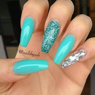 Coffin Blues Blue Nails Cute Nails Nails