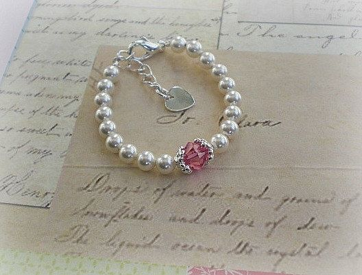 Baby Birthstone Bracelet New Gift Newborn Jewelry 17 50 Via Etsy