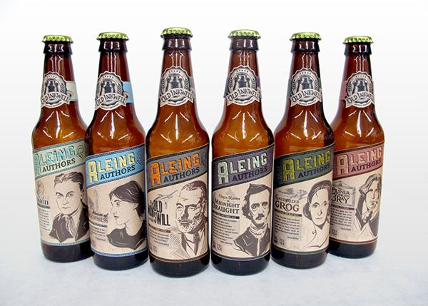 Aleing Authors Craft Beer (Student Project) on Packaging of the World - Creative Package Design Gallery
