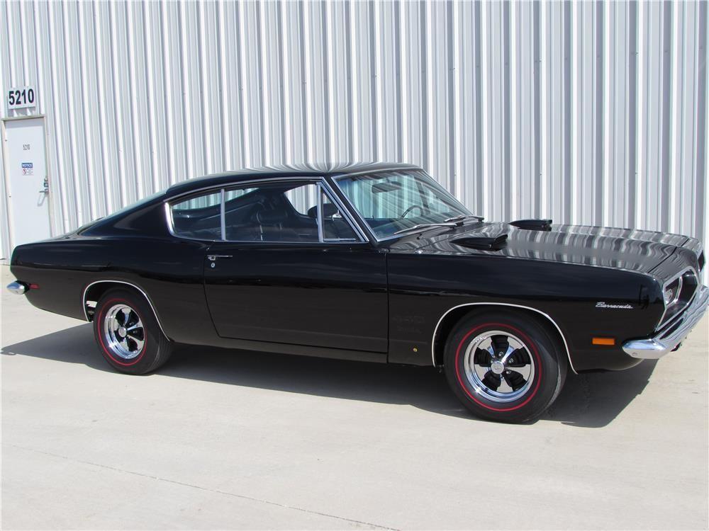 1969 M Code 440 Barracuda fastback in triple black  All M