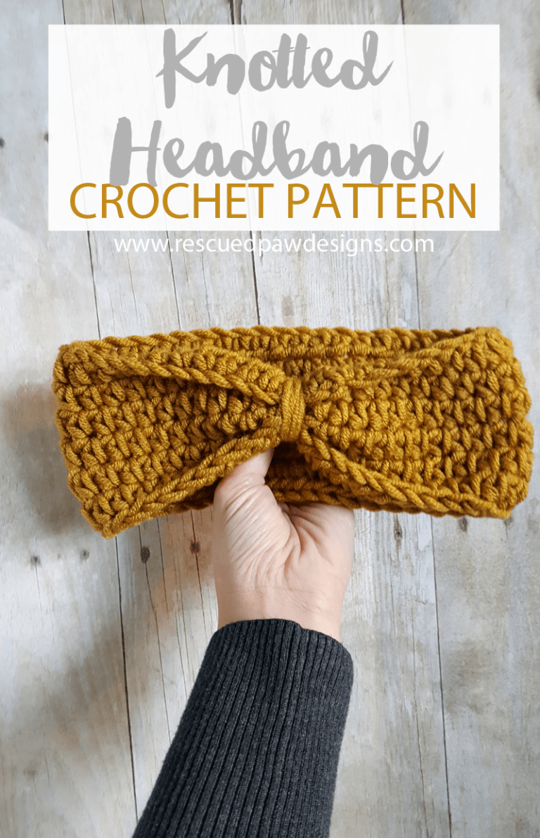 Knotted Headband Crochet Pattern - Multiple Sizes   Ganchillo ...