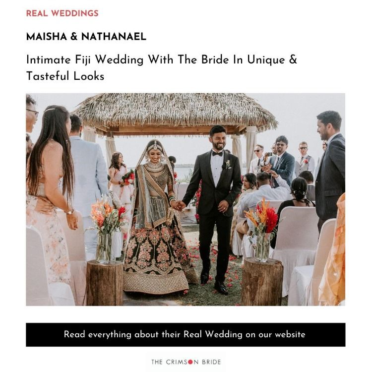 Intimate Fiji Wedding With The Bride In Unique & Tasteful