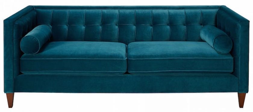 Teal Tufted Sofa