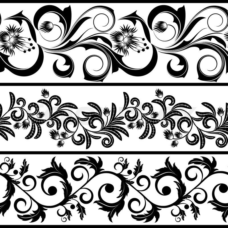 Lace stencil. Patterns stock vector of