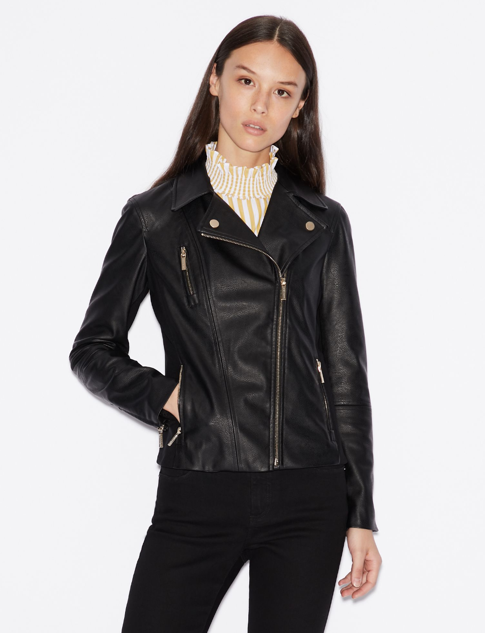 Faux leather biker jacket Faux leather biker jacket