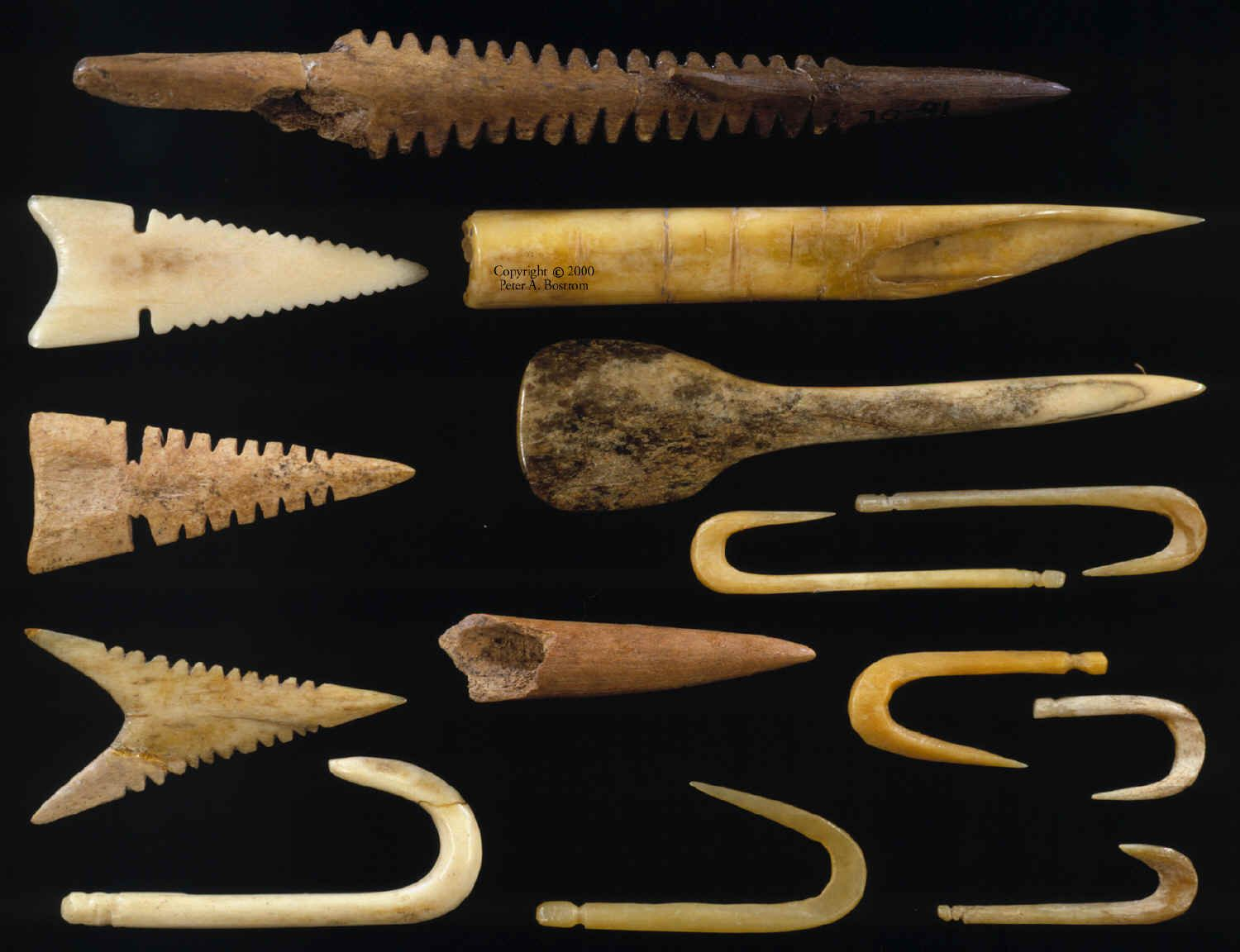 artifacts - arrowheads, pottery, and other objects that have