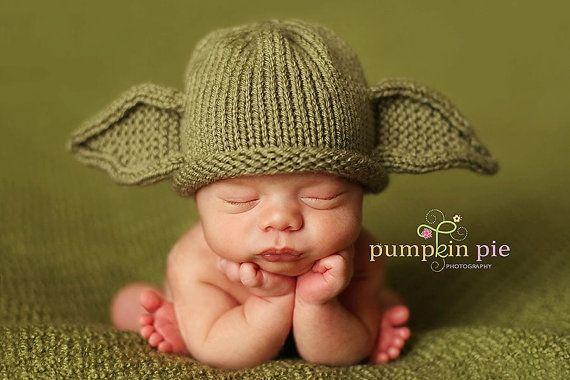 Yoda Baby Hat   Craft Ideas   Pinterest   Marcial, La fotografia y ...
