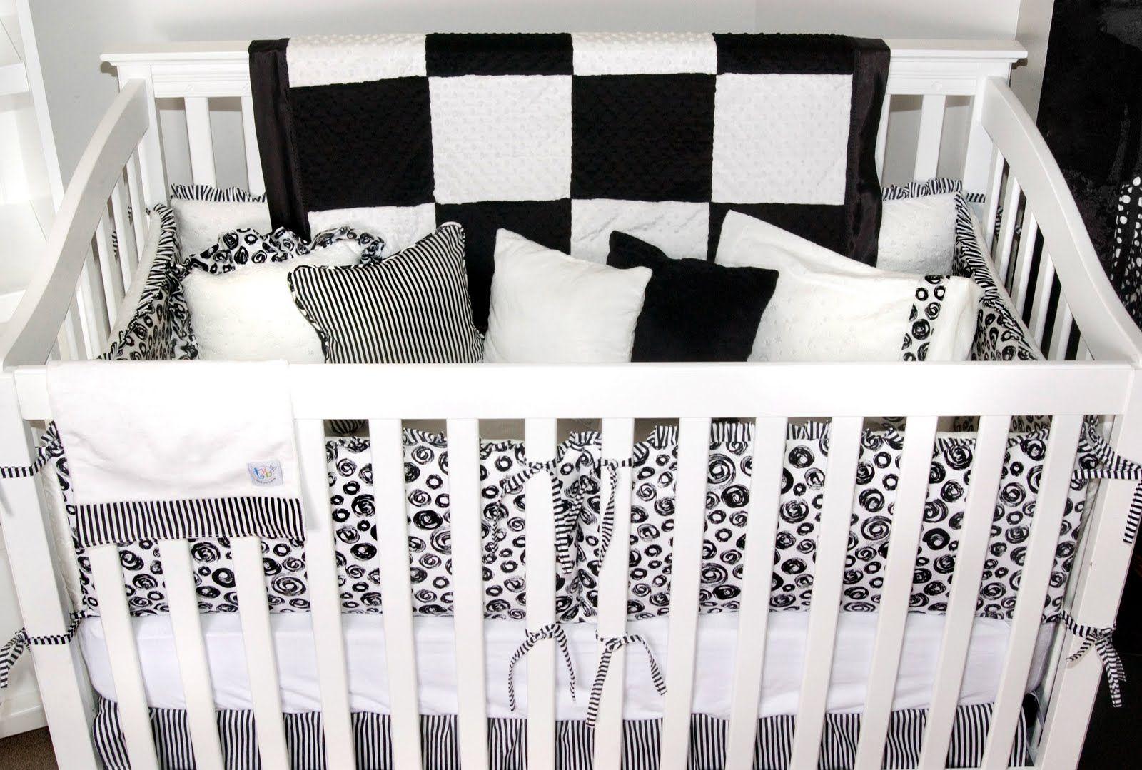 Black White Bedding Frilly To Mod White Crib Black White Bedding White Bedding