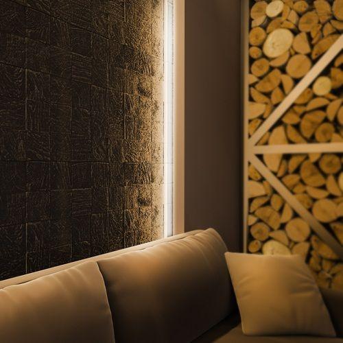Стеновые 3D панели DECO LINE NATURE гипсовая панель E 07
