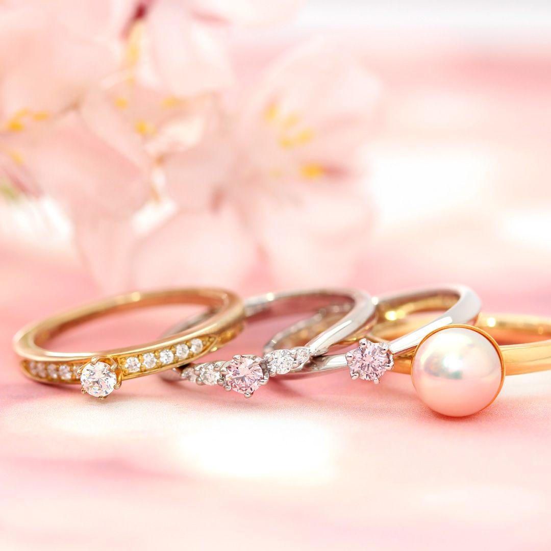 Bizoux Bridal | ビズーブライダル】パール、ダイヤモンド、ピンク ...