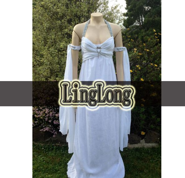 Linglong TailoredGame Of Thrones Daenerys Targaryen Khaleesi Wedding Dress Costume Adult Women Cosplay Gown