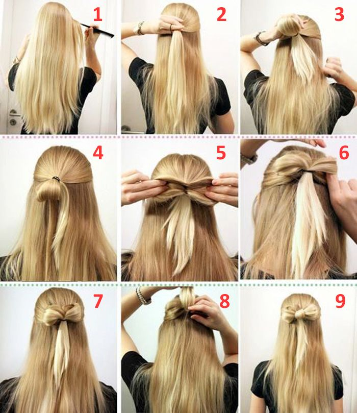10 Quick And Easy Hairstyles Step By Step Medium Hair Styles Open Hairstyles Long Hair Styles