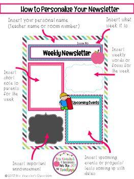 parents newsletter templates