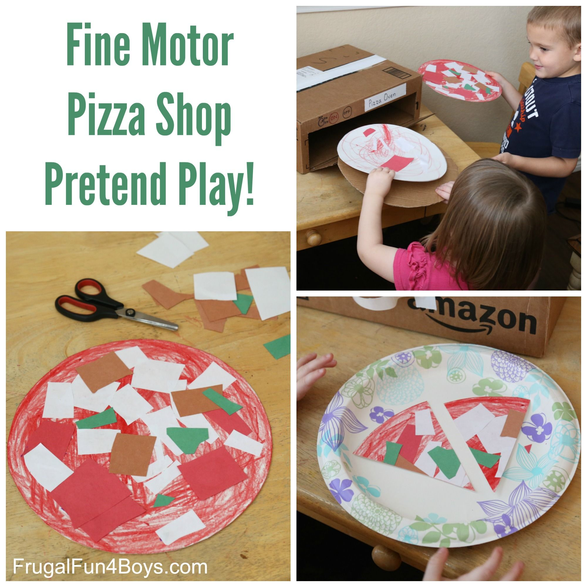 Pizza Shop Pretend Play Fine Motor Activity Frugal Fun For Boys And Girls Fun Activities For Preschoolers Preschool Activities Fine Motor Activities [ 2000 x 2000 Pixel ]