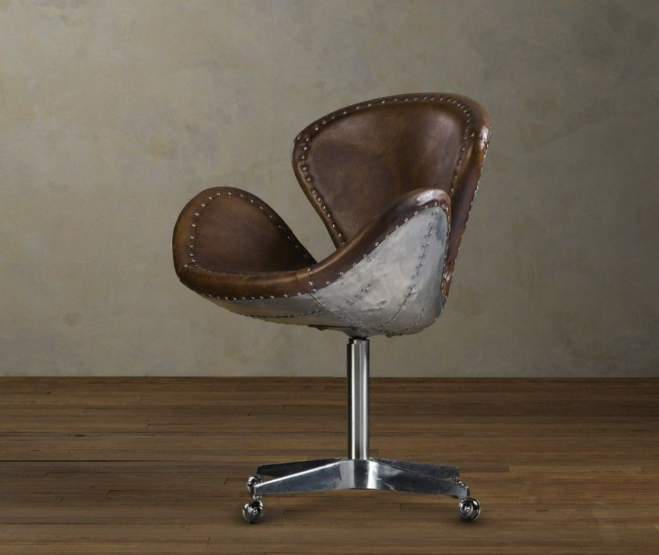 Nice Cool Aviation Brown Leather Swivel Chair With Aluminum Seat Base From  Restoration Hardware. Uniquely Amazing Aircraft Inspired Aviation Artwork  Furniture ...