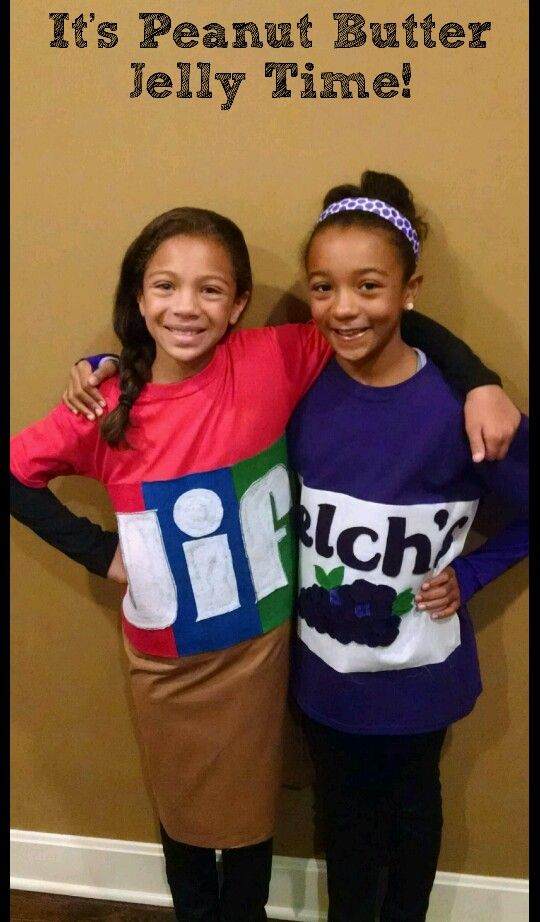 6f1a7f70d8a Homemade peanut butter and jelly costume