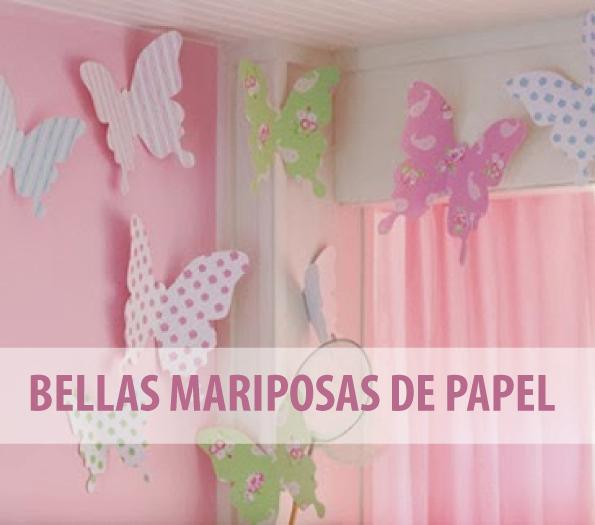 Bellas mariposas de papel para ni as fiestas pinterest - Como hacer mariposas de papel para decorar paredes ...