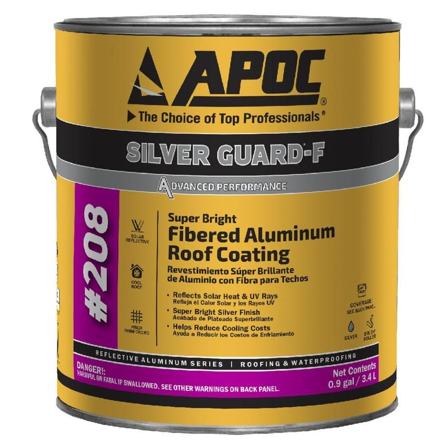 Apoc Silver Guard F 0 9 Gallon Aluminum Reflective Roof Coating 1 Year Limited Warranty Lowes Com In 2020 Roof Coating Roof Sealant Rubber Roof Coating