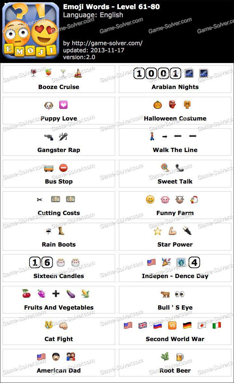 Emoji Words Level 61 80 Emoji Words Emoji Sentences Words