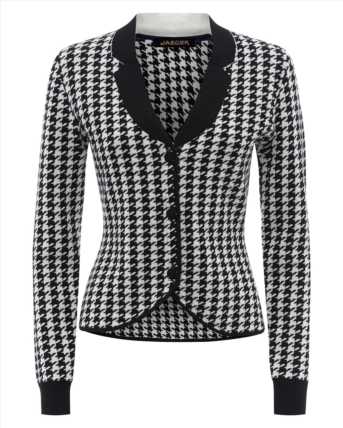 Womens black and white jacket from Jaeger - £175 at ClothingByColour.com