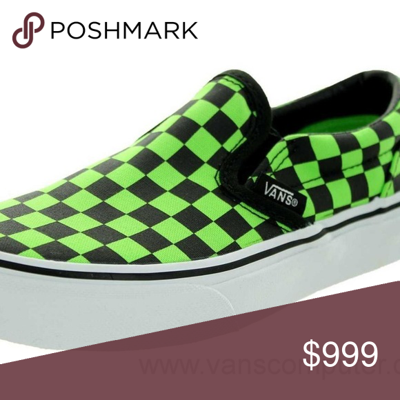 ISO Black and Green Checkered Vans
