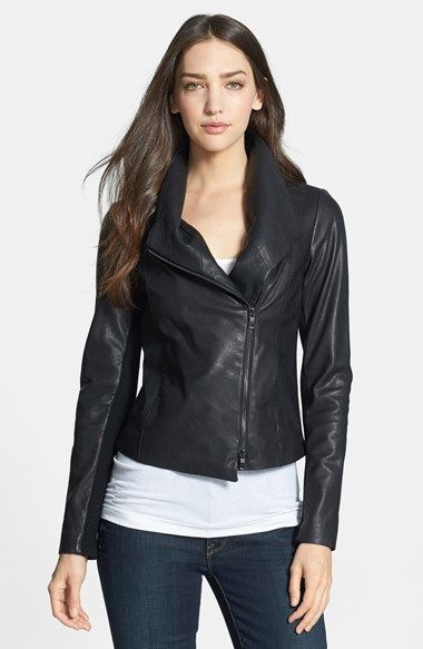 150b639f8 Vince Leather Scuba Jacket | for the closet | Jackets, Vince leather ...