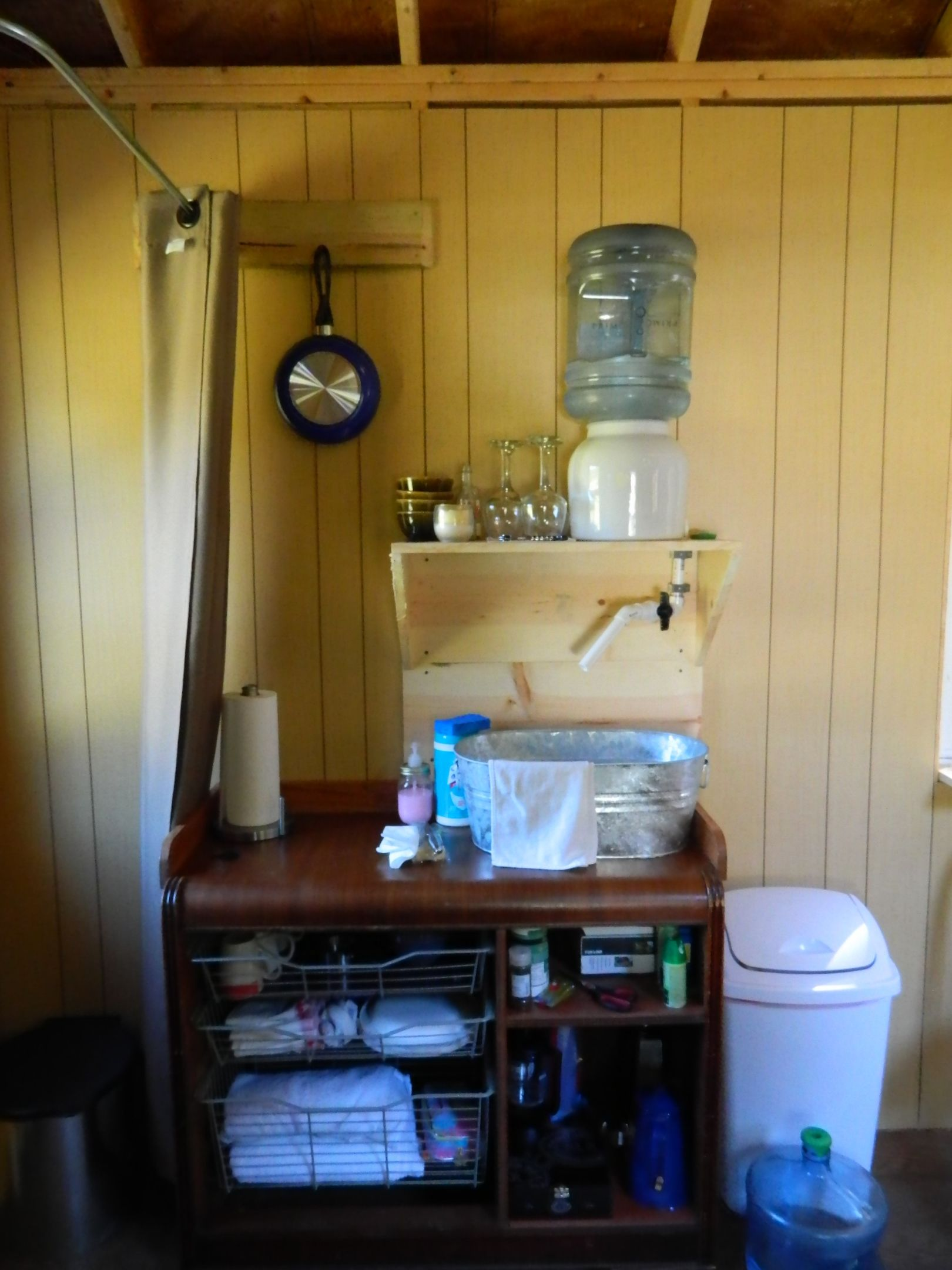Sink - No running water in tiny house - We are very creative