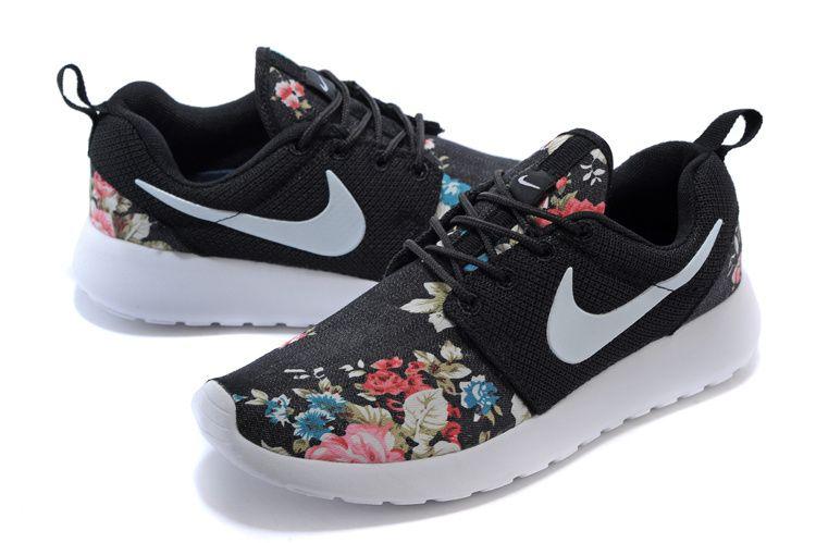 Nike Roshe Run Black Floral For Women