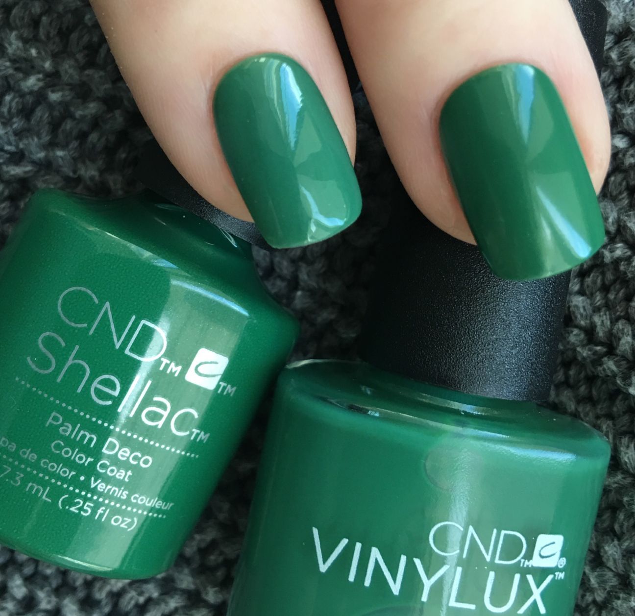 Shellac Palm Deco in Shellac and Vinylux photographed by Fee Wallace ...