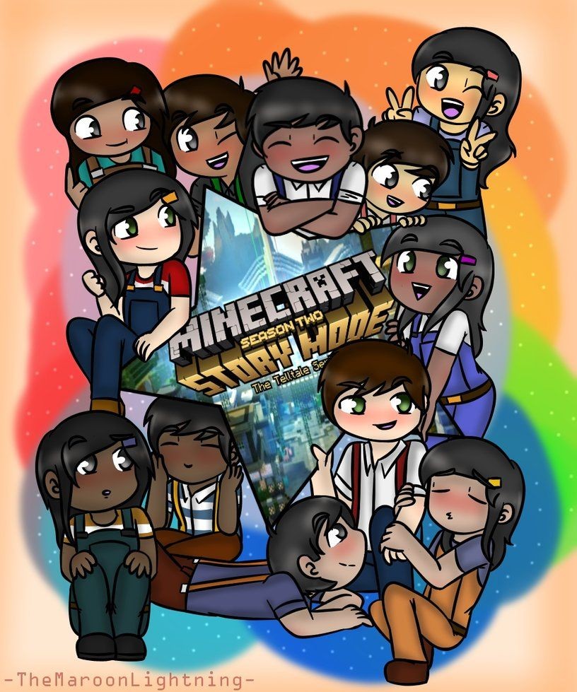 Minecraft Story Mode Jesse Siblings By Themaroonlightning