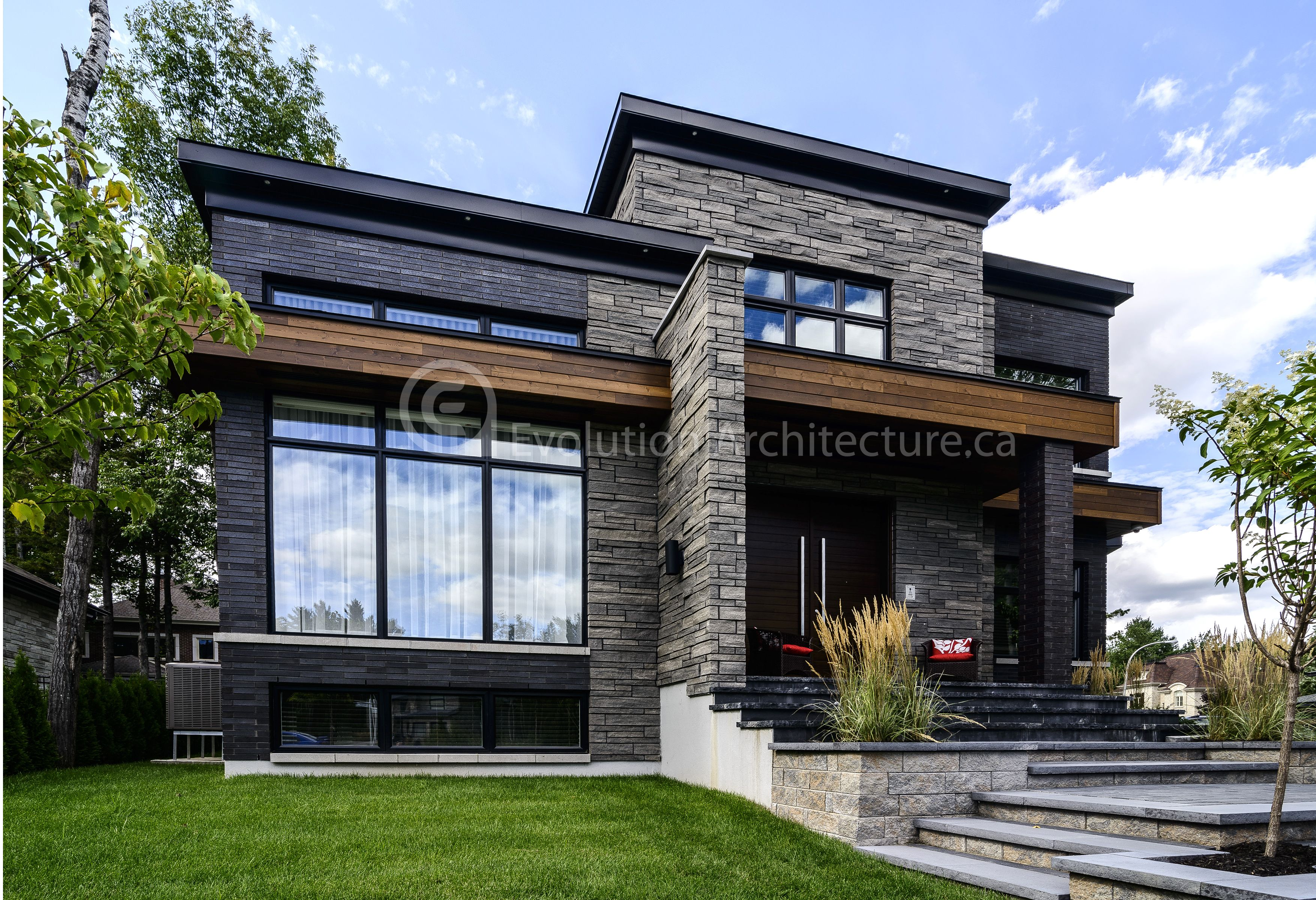 Evolution Architecture Maison Moderne Creation Exclusive E 851 Modern House Design Modern House Exterior House