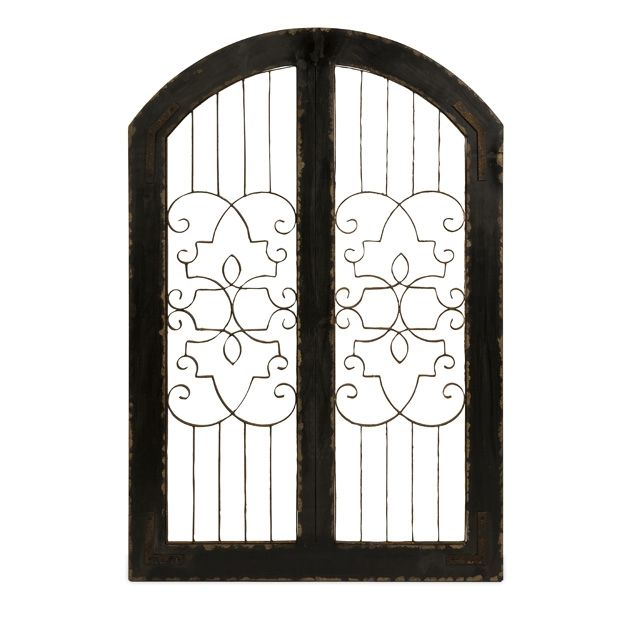 Metal Gate Wall Art Alluring Amelia Iron And Wood Gate  The Amelia Iron And Wood Gate Adds A Design Decoration