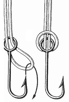 How to tie a fishing hook fishing knots fishing pinterest for How to tie a hook on a fishing line