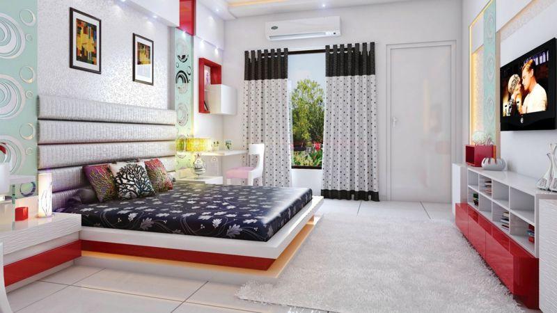 Stilvolle Jugendzimmermöbel In Rot Weiß