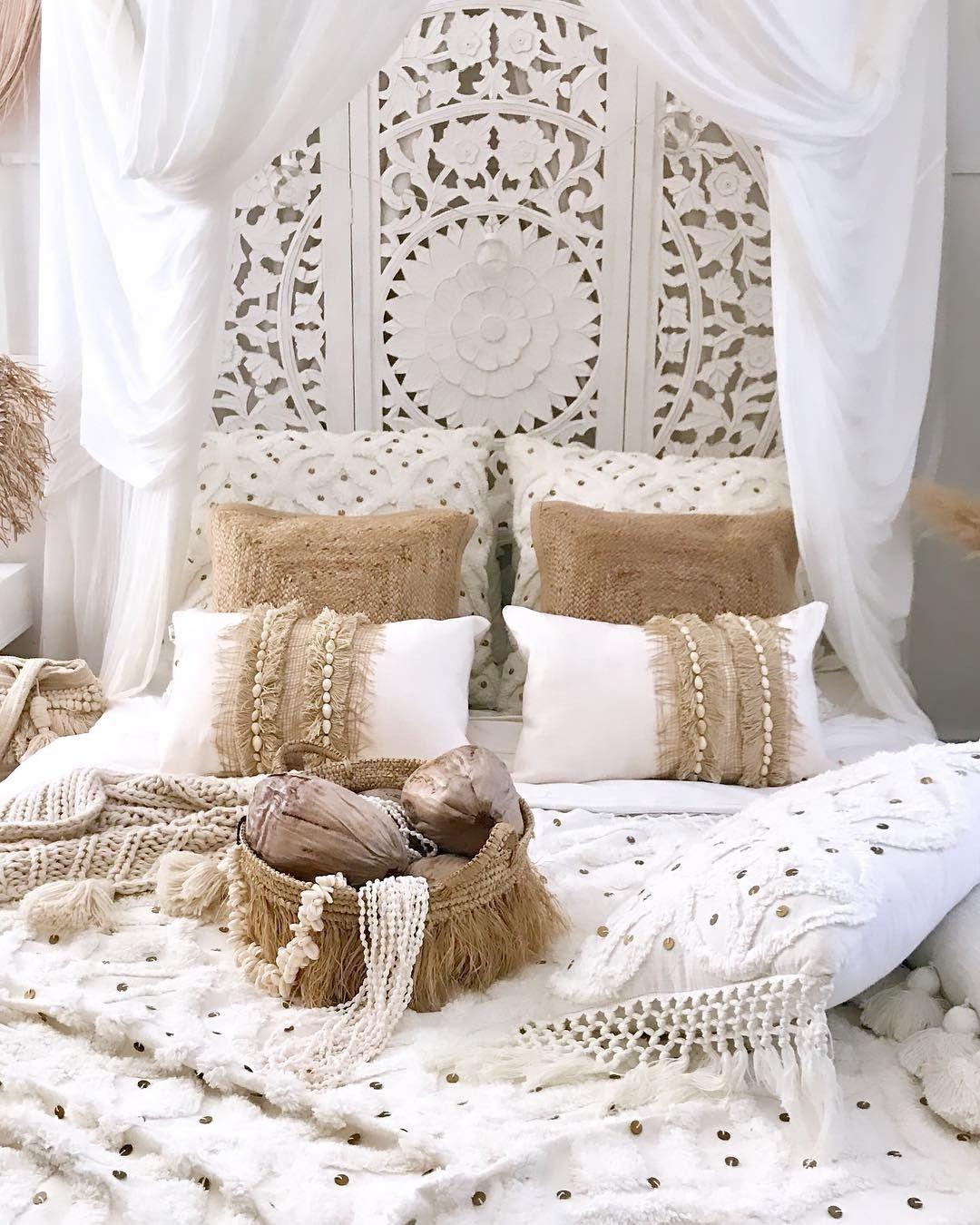 Boho Einrichtungsideen Böhmische schlafzimmerdeko