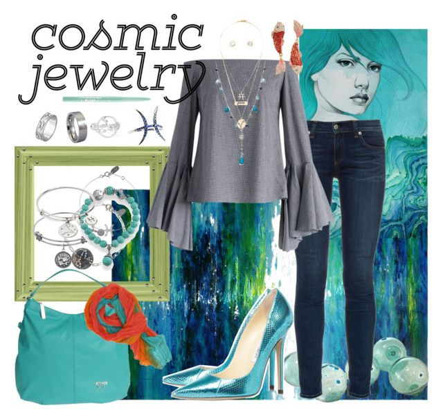 """Zodiac Jewelry: Pisces Water Woman"" by pinkice ❤ liked on Polyvore featuring Leftbank Art, rag & bone, Chicwish, Honora, Nashelle, Bling Jewelry, Chrysalis, Charlotte Russe, Versace and Stila"