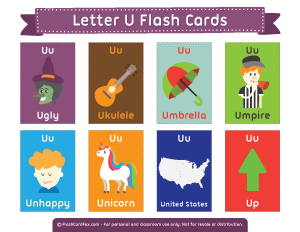 Letter U Flash Cards Flashcards Printable Flash Cards Alphabet For Kids