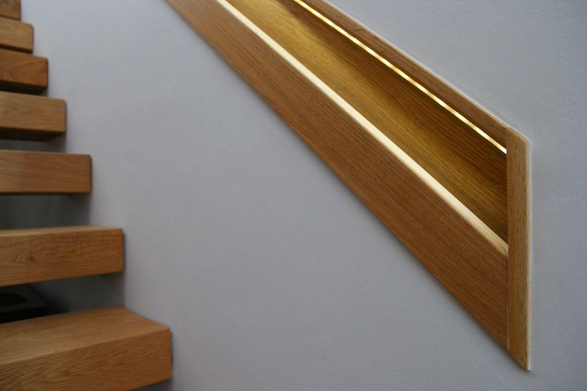Best Recessed Oak Handrail Oak Handrail Stairs Staircase 400 x 300