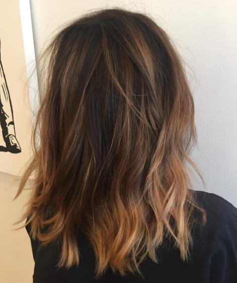 Corte de pelo lob en capas