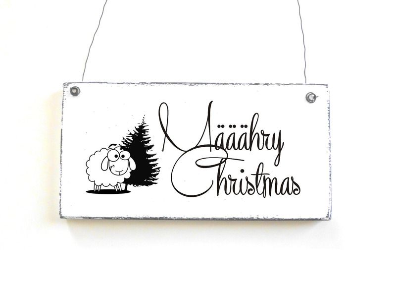 M hry christmas dekoschschild weihnachtsschild von d rpkind auf www - Dawanda turschild ...
