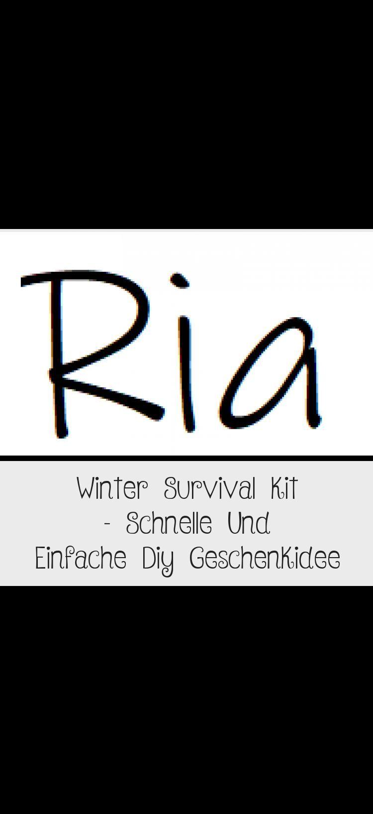 Winter Survival Kit – Schnelle Und Einfache Diy Geschenkidee
