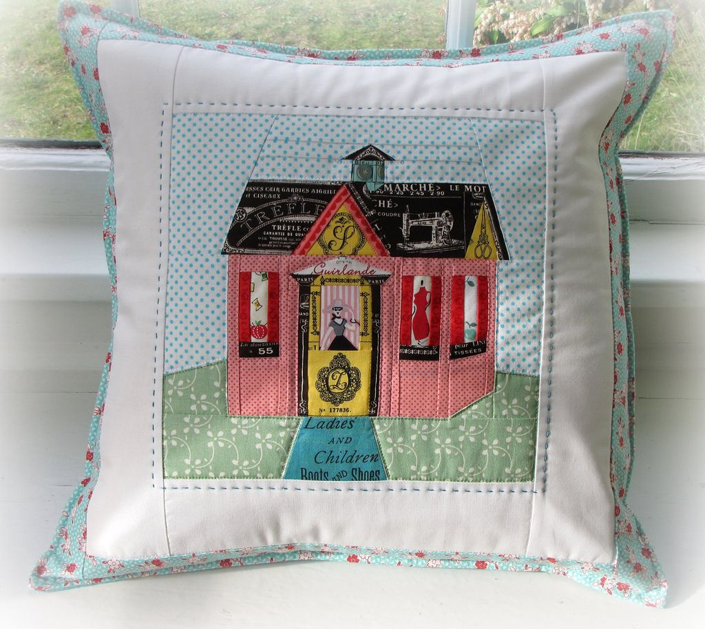 Charise Creates: Finished Pillow and a Sneak Peek. There's some great inspiration here for my house quilt.