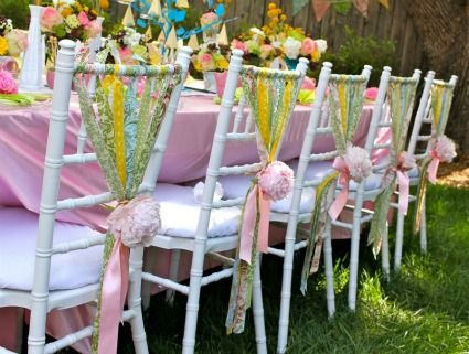 Whimsical Chair Ribbons Wedding Chair Decorations Wedding Chair Decorations Ribbon Whimsical Wedding Decorations