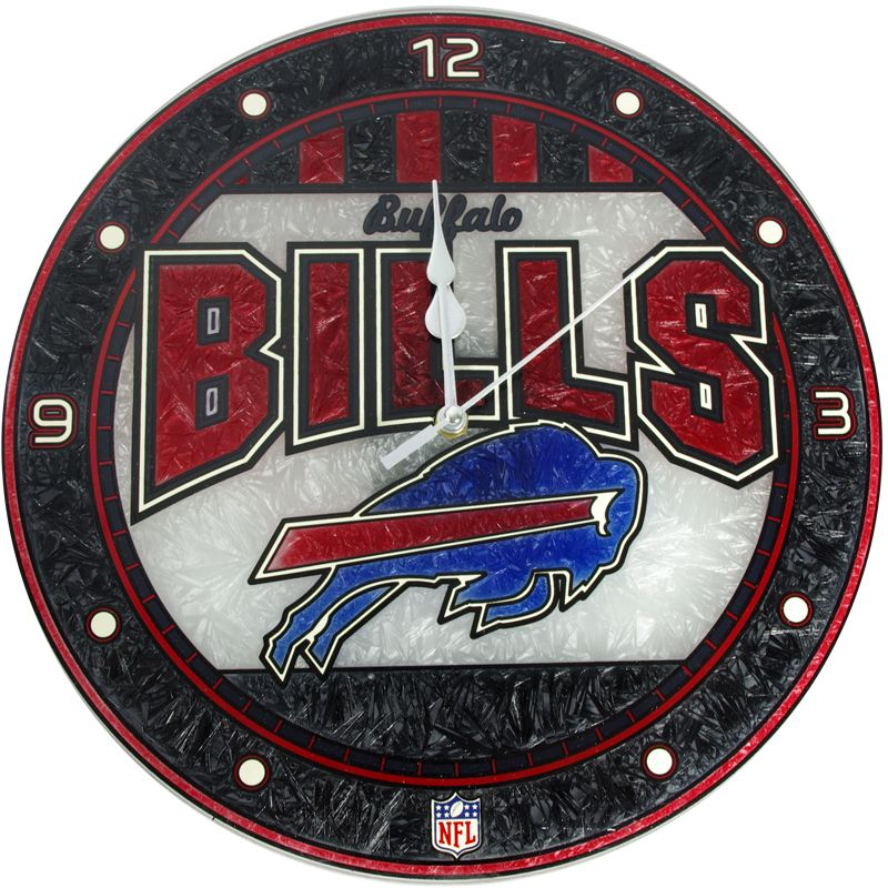 Its always time for the buffalo bills with this art glass